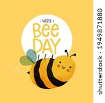 world bee day greeting card...   Shutterstock .eps vector #1949871880