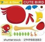 cute red bird perch on tree... | Shutterstock .eps vector #1949880883