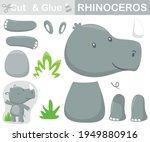 funny rhino standing. education ... | Shutterstock .eps vector #1949880916