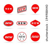 new labels  2  | Shutterstock .eps vector #194988440