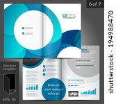 white vector creative brochure... | Shutterstock .eps vector #194988470