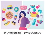 icons of healthy food and... | Shutterstock .eps vector #1949900509