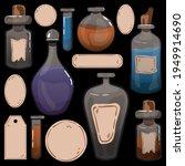 a set of bottles of potion....   Shutterstock .eps vector #1949914690