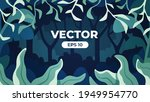 seamless forest silhouette.... | Shutterstock .eps vector #1949954770