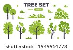 trees set. plants isolated.... | Shutterstock .eps vector #1949954773