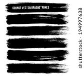 black ink vector brush strokes | Shutterstock .eps vector #194997638