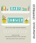 baby shower invitation card... | Shutterstock .eps vector #194998610