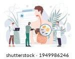 cartoon flat doctor characters... | Shutterstock .eps vector #1949986246