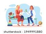 happy family on pediatrician... | Shutterstock .eps vector #1949991880