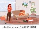 cartoon upset woman scolding...   Shutterstock .eps vector #1949992810