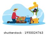 happy male and female...   Shutterstock .eps vector #1950024763