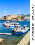 boats in a port in kyrenia ... | Shutterstock . vector #195002750
