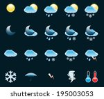 illustration set of icons on a... | Shutterstock .eps vector #195003053