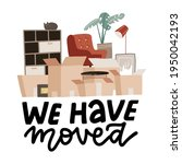 moving concept with stack of... | Shutterstock .eps vector #1950042193