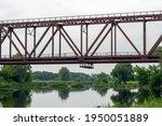 Old Rusty Railway Bridge Over...