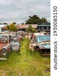 Antique Cars On A Big Scrapyard ...