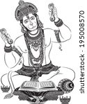 jai hanuman  | Shutterstock .eps vector #195008570