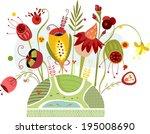 springs explosion   Shutterstock . vector #195008690