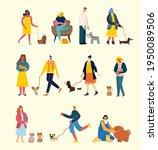 people with cute dogs and cats... | Shutterstock .eps vector #1950089506
