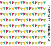 seamless vector birthday pattern | Shutterstock .eps vector #195010874