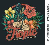 tropical hawaiian floral... | Shutterstock .eps vector #1950112060