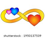 Infinity Sign With Three Hearts ...