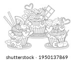 cute and sweet cupcakes vector... | Shutterstock .eps vector #1950137869