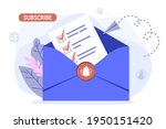 email subscribe vector...