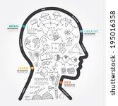 infographics vector head design ... | Shutterstock .eps vector #195016358