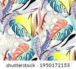 seamless repeat pattern design...   Shutterstock .eps vector #1950172153