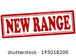 stamp with text new range... | Shutterstock .eps vector #195018200