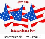 american stars and stripes | Shutterstock . vector #195019010