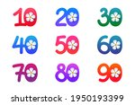 set of colorful bright numbers... | Shutterstock .eps vector #1950193399