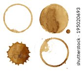 coffee stains collection ... | Shutterstock .eps vector #195020693