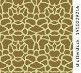 giraffe skin texture  seamless... | Shutterstock .eps vector #1950229216
