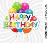 happy birthday card vector... | Shutterstock .eps vector #195022928