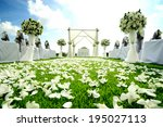 beautiful wedding set up | Shutterstock . vector #195027113