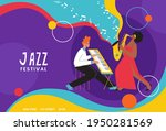 live music band playing on... | Shutterstock .eps vector #1950281569