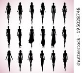 set of female fashion... | Shutterstock .eps vector #195028748
