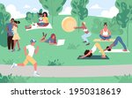 various people at park...   Shutterstock .eps vector #1950318619