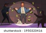 dirty money corruption cartoon... | Shutterstock .eps vector #1950320416