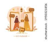 vector illustration muslims...   Shutterstock .eps vector #1950321856