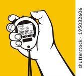 stopwatch hand   Shutterstock .eps vector #195032606