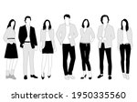 vector silhouettes of  men and... | Shutterstock .eps vector #1950335560