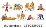 vector set of asian women in... | Shutterstock .eps vector #1950339013
