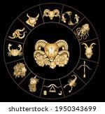 aries vector of astrology... | Shutterstock .eps vector #1950343699