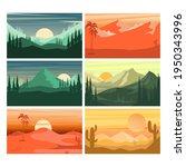 set of cartoon mountain...   Shutterstock .eps vector #1950343996