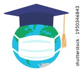 graduating square cap or mortar ... | Shutterstock .eps vector #1950346843