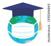 graduating square cap or mortar ... | Shutterstock .eps vector #1950346843