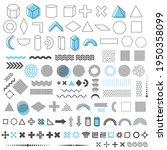geometric trendy shapes set of... | Shutterstock .eps vector #1950358099